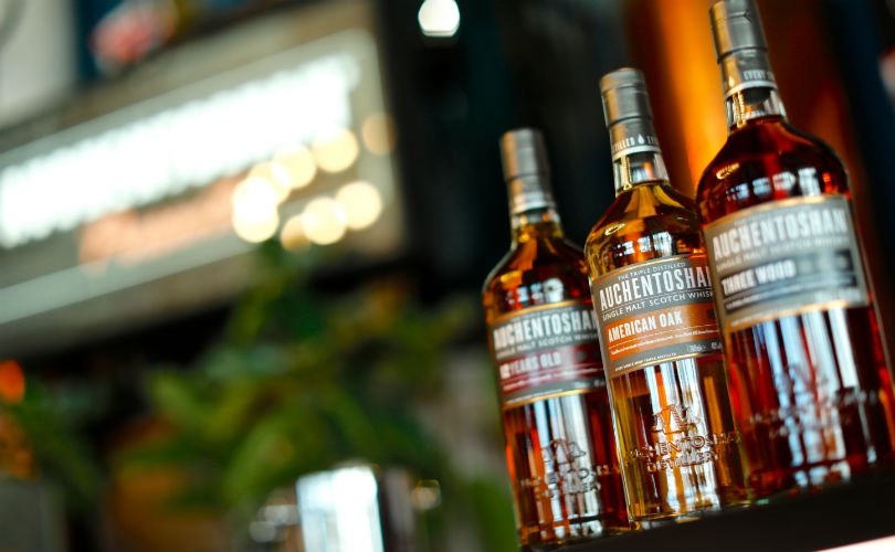 Auchentoshan whisky flight