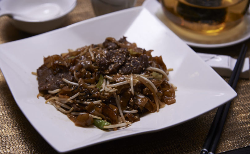 Wok-fried beef hor fun by chef Tse Kit of Lucky8