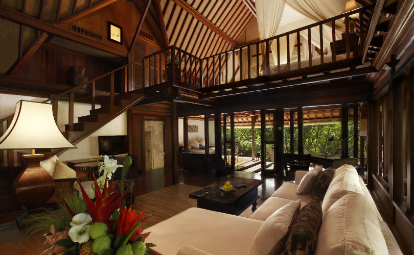 Luxurious traditional Balinese-style accommodation