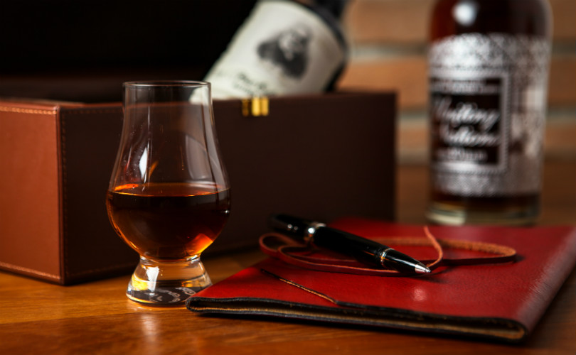 Taking whisky notes at The Writing Club