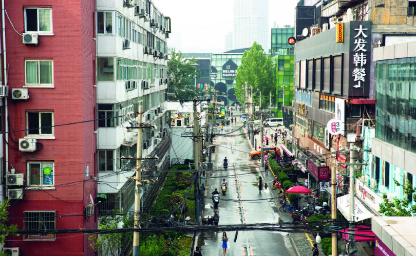 The notorious 'dirty bar street', Sanlitun Houjie during daytime