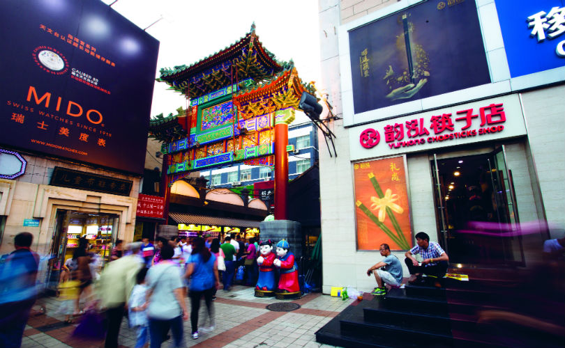 One of the most famous shopping and foodie streets in Beijing: Wangfujing