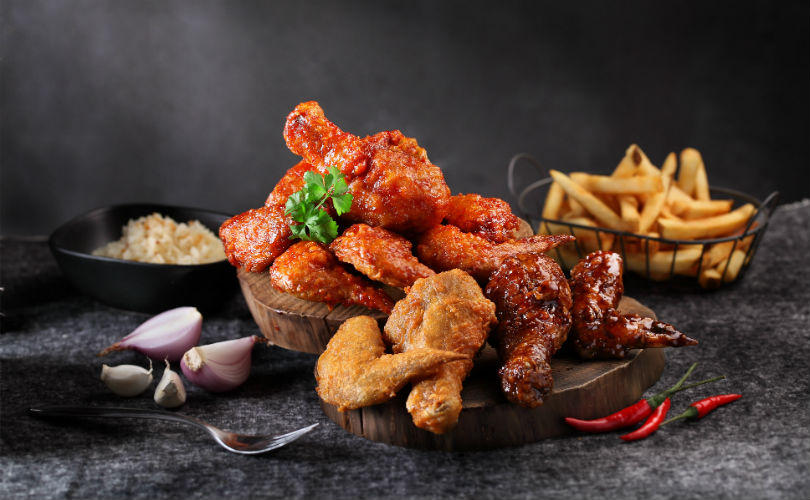 Sticky Wings' assorted flavours - the sticky kecap manis, spicy flamin' and naked