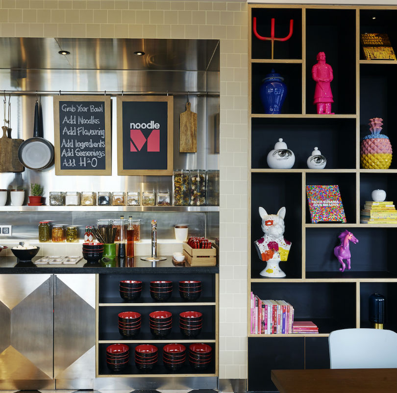 The noodle bar at citizenM Taipei North Gate