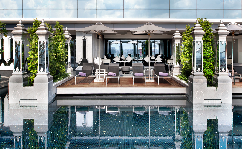 Lounge by the pool at The St. Regis Bangkok
