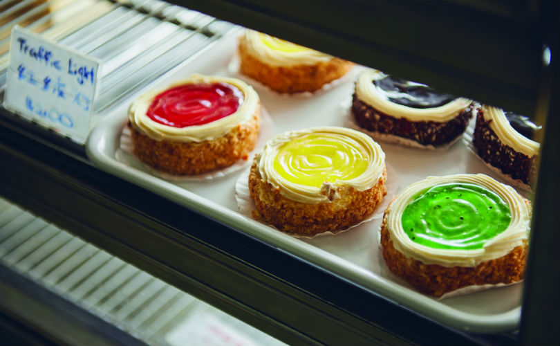 Strawberry, lemon and kiwi 'traffic light' buttercream cakes by Uncle Jee - a taste of the good old days