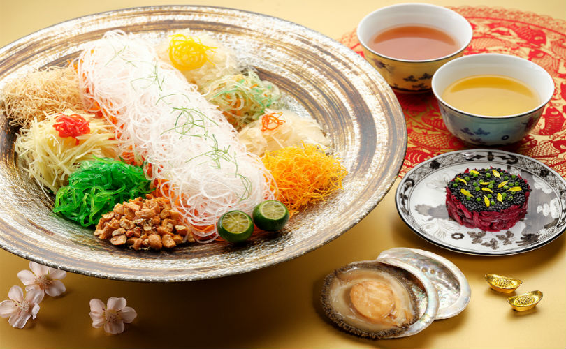 Ritz Carlton's Abalone and Black Caviar Yu Sheng