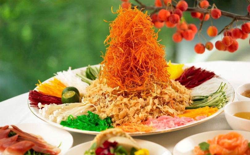 Four Seasons Singapore's Signature Yu Sheng