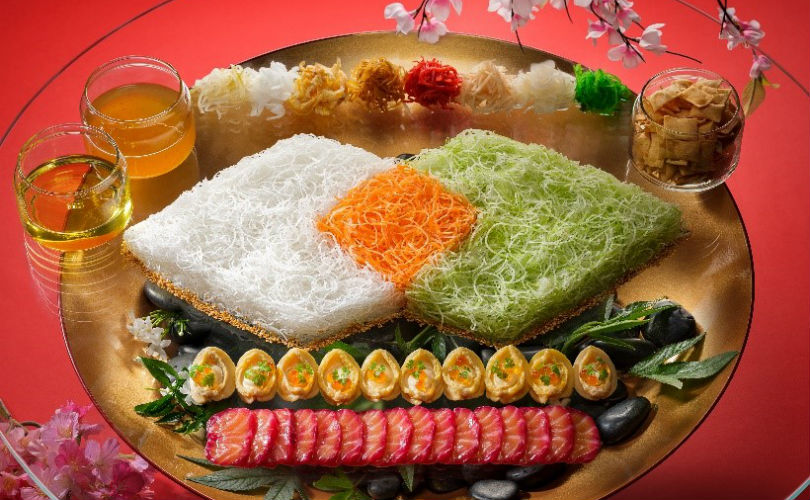 Racines Restaurant's Eight Treasures Yu Sheng