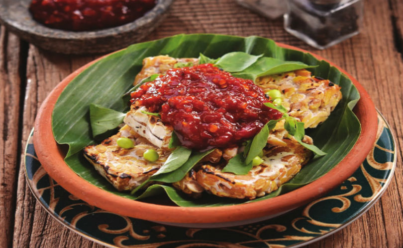 Tempe goreng with sambal