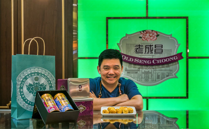 Pastry chef-turned-businessman Daniel Tay at his new brick and mortar store, Old Seng Choong