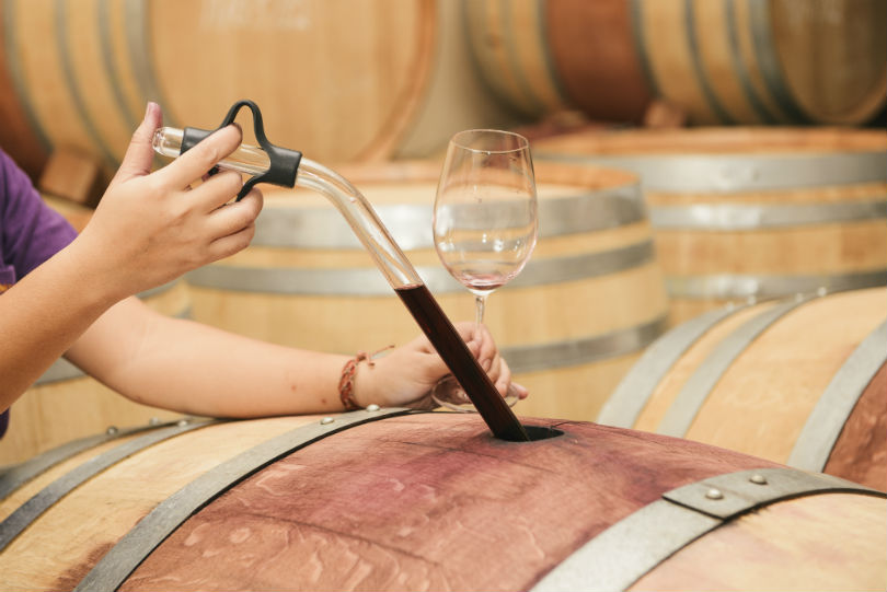 Nikki uses a mixture of French and American oak barrels to age her wines.