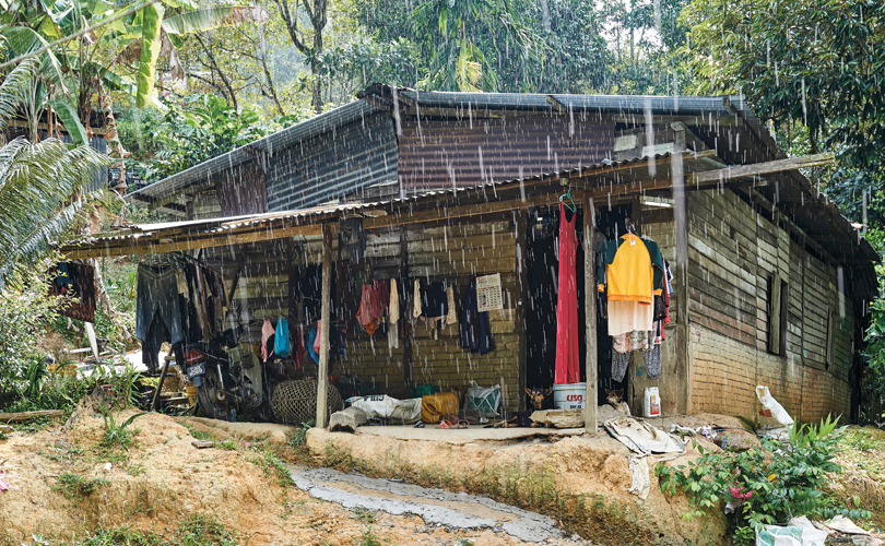 A house belonging to an Orang Asli family.