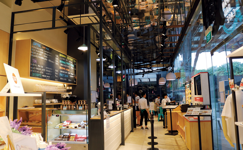 Interior of the Japanese Rail Cafe