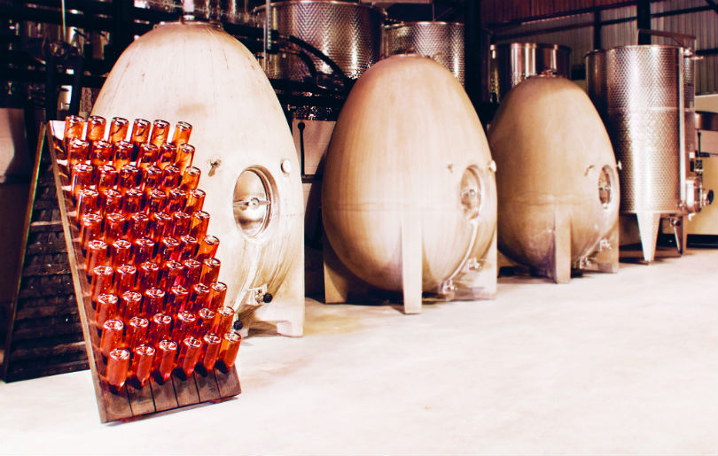 Coates & Seely's winemaking process includes using concrete eggs for fermentation.