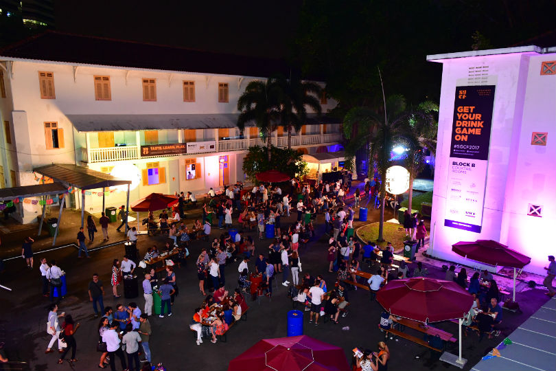 Festival-goers at the Singapore Cocktail Festival 2017